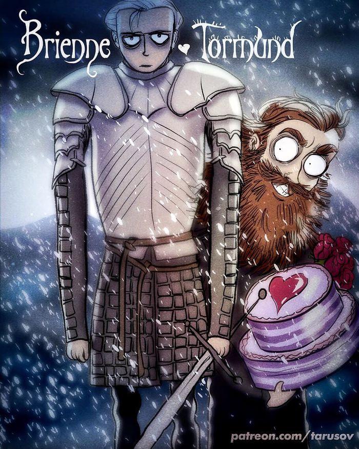 Andrew Tarusov - Game of Thrones - Tim Burton