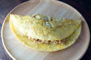 Yumurta - pirinçli omlet 2