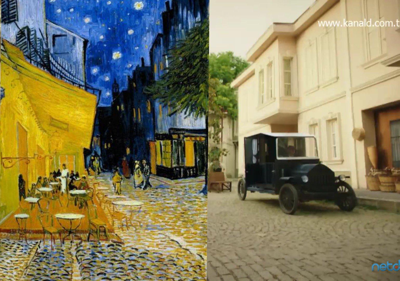 Vatanım Sensin Sanatla buluşuyor Vincent Van Gogh - Cafe Terrace at Night